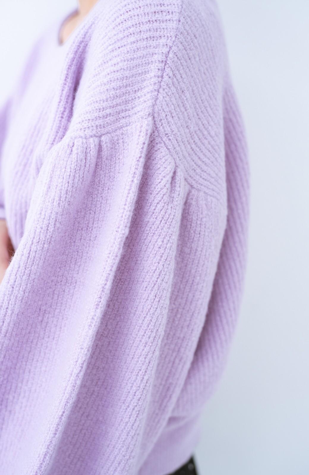 haco!  たまには女っぽ意識のやわらかニットトップス【キラキラ期】女の子バンザイ!プロジェクト <ラベンダー>の商品写真5