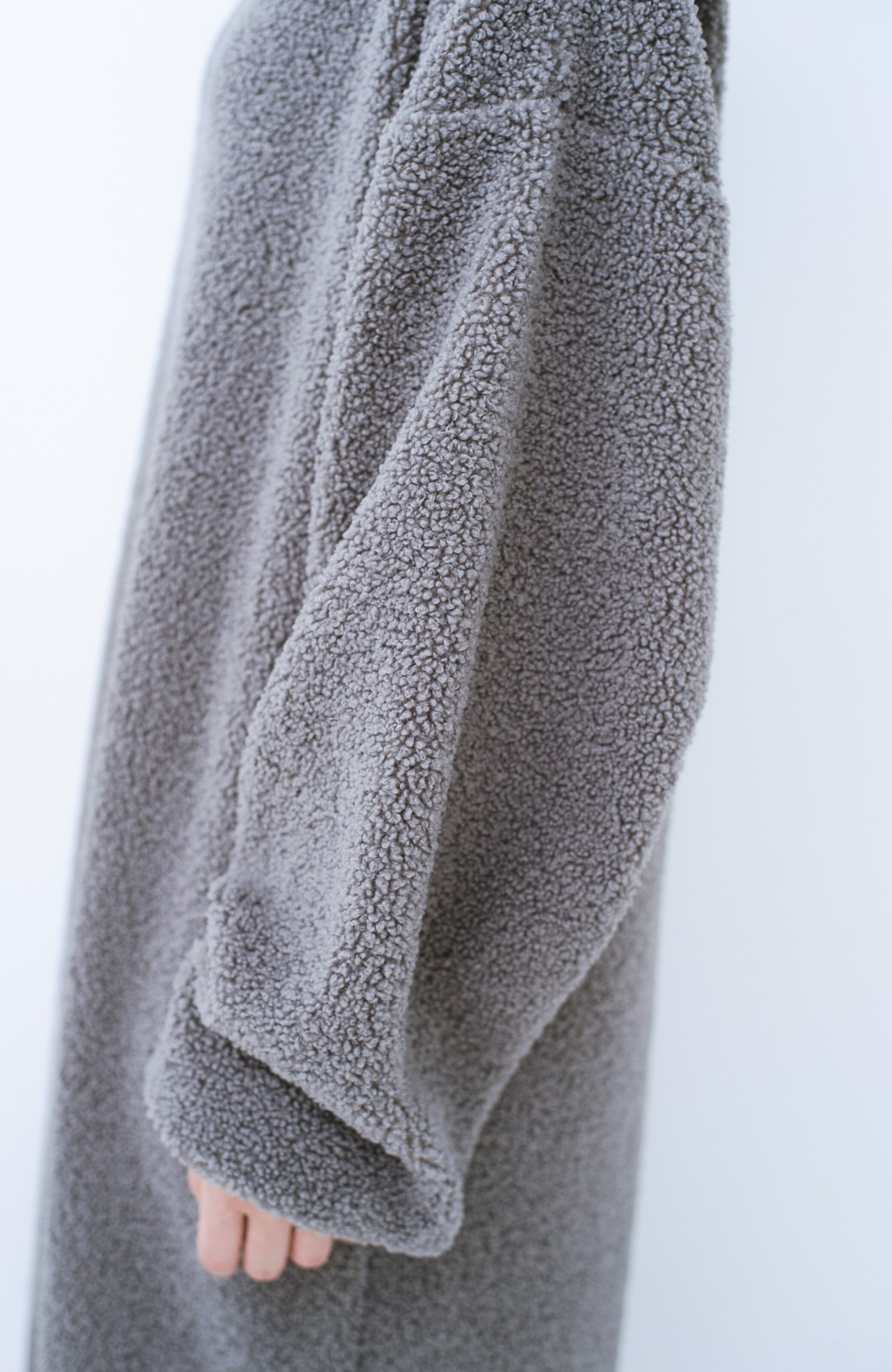 haco! むくみもすぽっと隠してくれる 楽ちんボアロングワンピ&裏起毛レギンスセット【まったり期~もやもや期】女の子バンザイ!プロジェクト  <グレー>の商品写真7