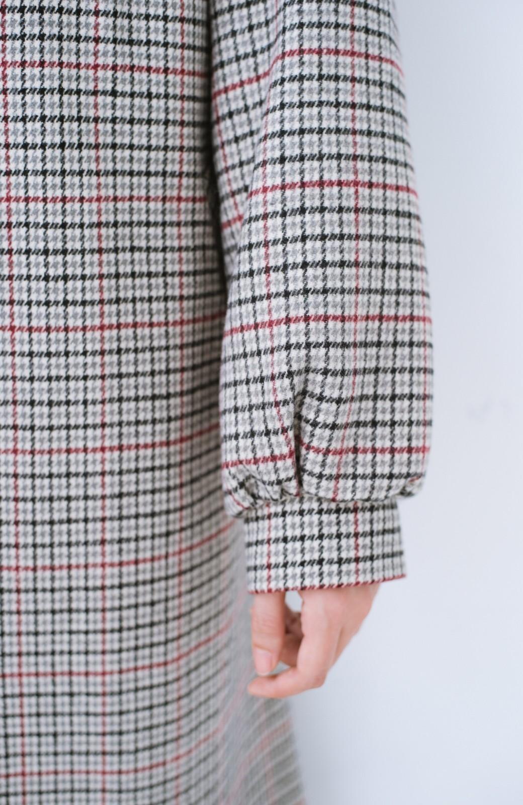 haco! パッと着て今っぽが完成!ふんわり袖がかわいい クラシックなチェックコート <チェック>の商品写真6