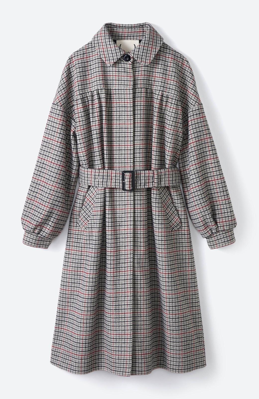 haco! パッと着て今っぽが完成!ふんわり袖がかわいい クラシックなチェックコート <チェック>の商品写真1