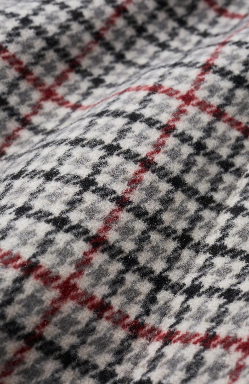 haco! パッと着て今っぽが完成!ふんわり袖がかわいい クラシックなチェックコート <チェック>の商品写真2