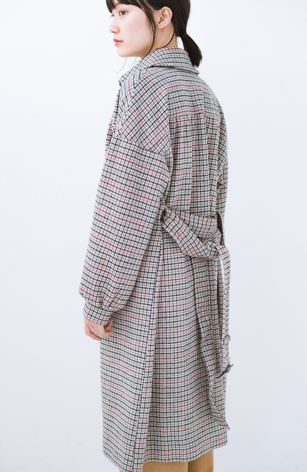 haco! パッと着て今っぽが完成!ふんわり袖がかわいい クラシックなチェックコート <チェック>の商品写真15