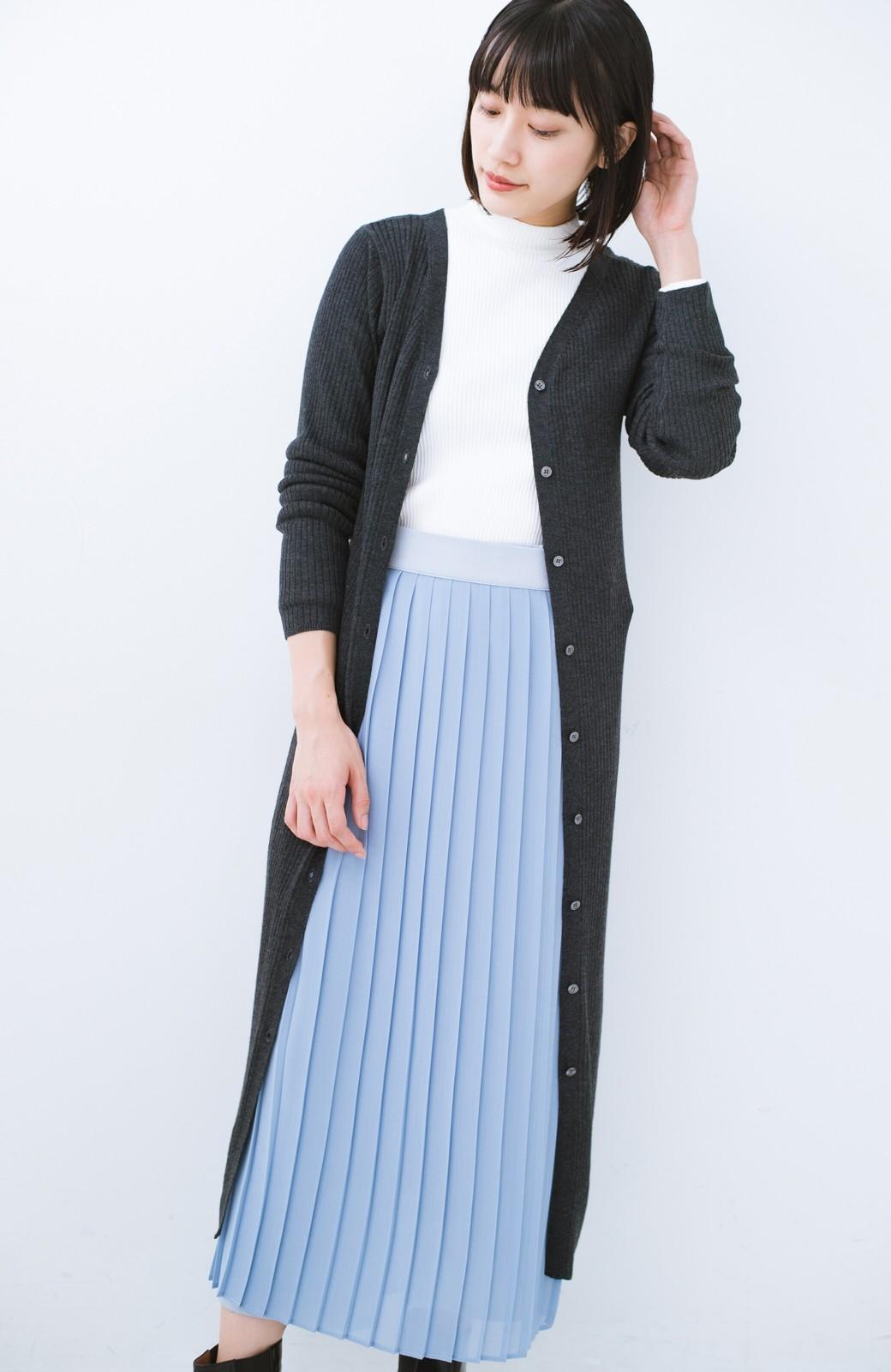 haco! 美シルエットがうれしい着方自由のオトナリブニットカーディガン by MAKORI <チャコールグレー>の商品写真1