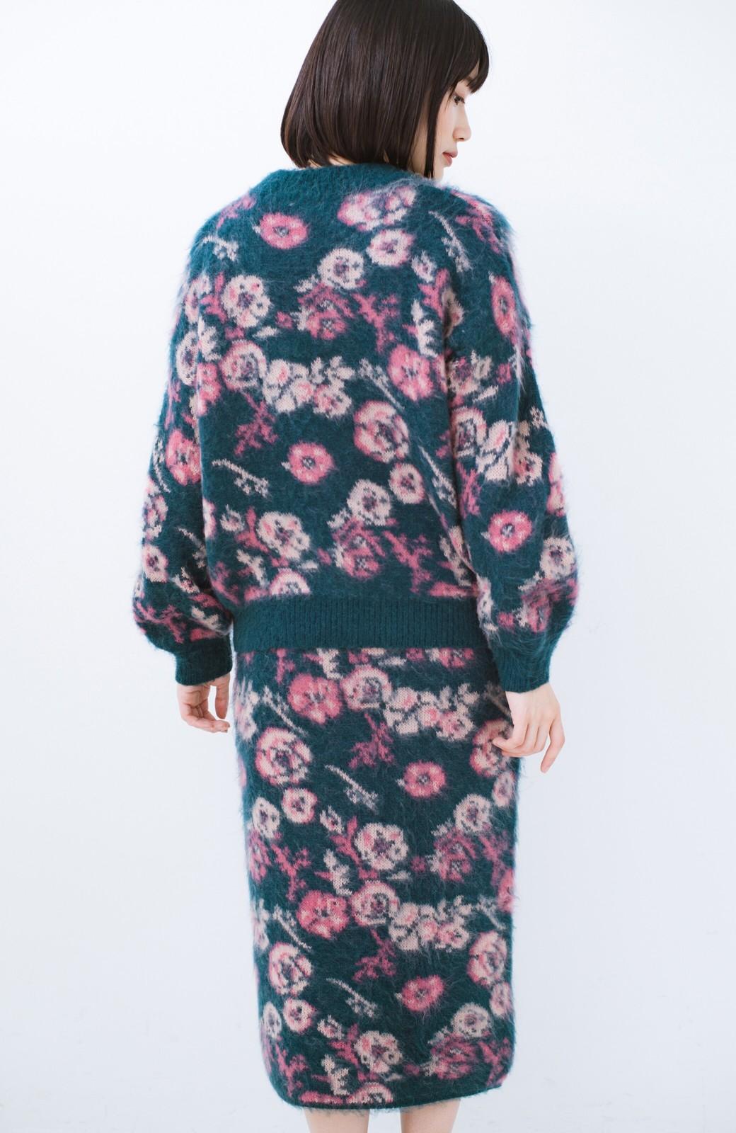 haco! <KANA MATSUNAMIテキスタイル>野ばら柄のジャカードニットスカート <ブルー>の商品写真15