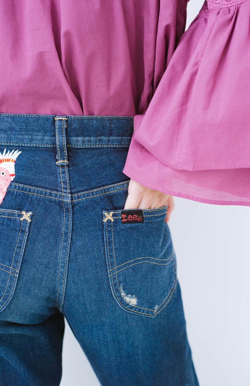 haco! Stitch by Stitch ポケットから大好きな鳥さんがこんにちは!Lee for PBP シルエットがきれいなデニムパンツ <インディゴブルー>の商品写真8