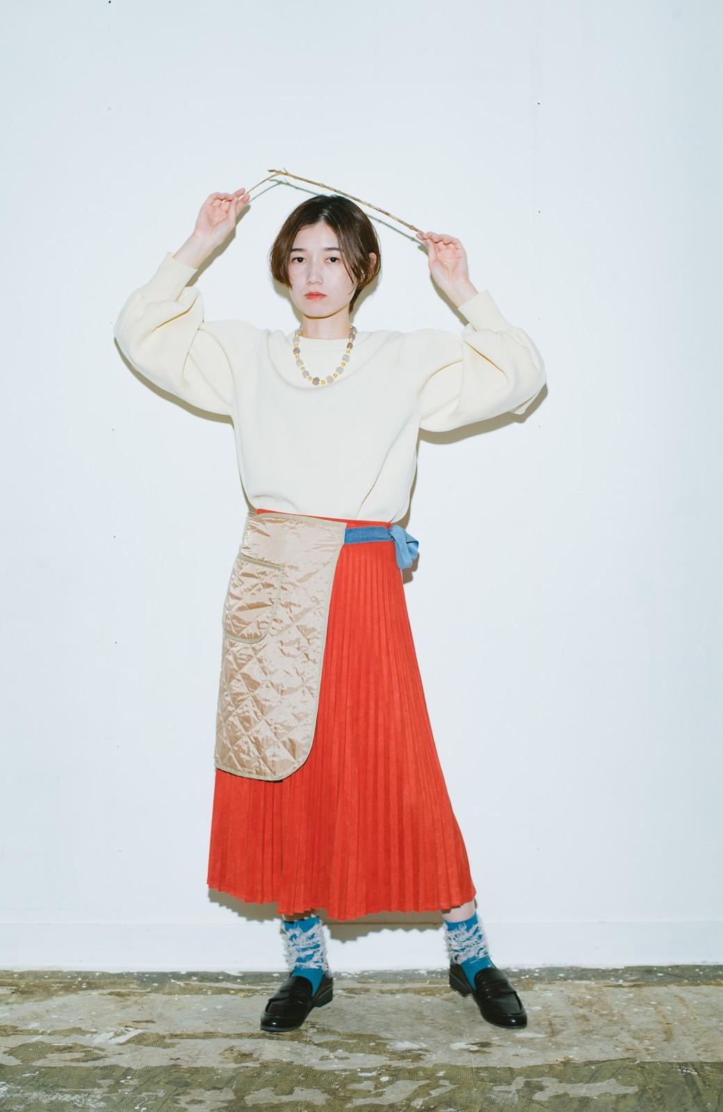 haco! haco! × RBTXCO  着回したっくさん!エプロン風巻きスカート <オレンジ系その他>の商品写真2