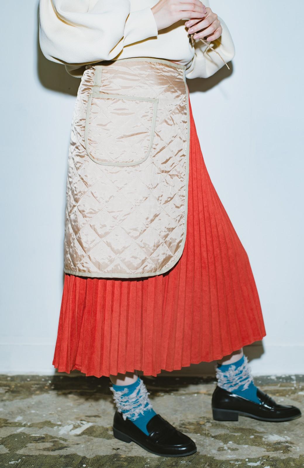 haco! haco! × RBTXCO  着回したっくさん!エプロン風巻きスカート <オレンジ系その他>の商品写真3