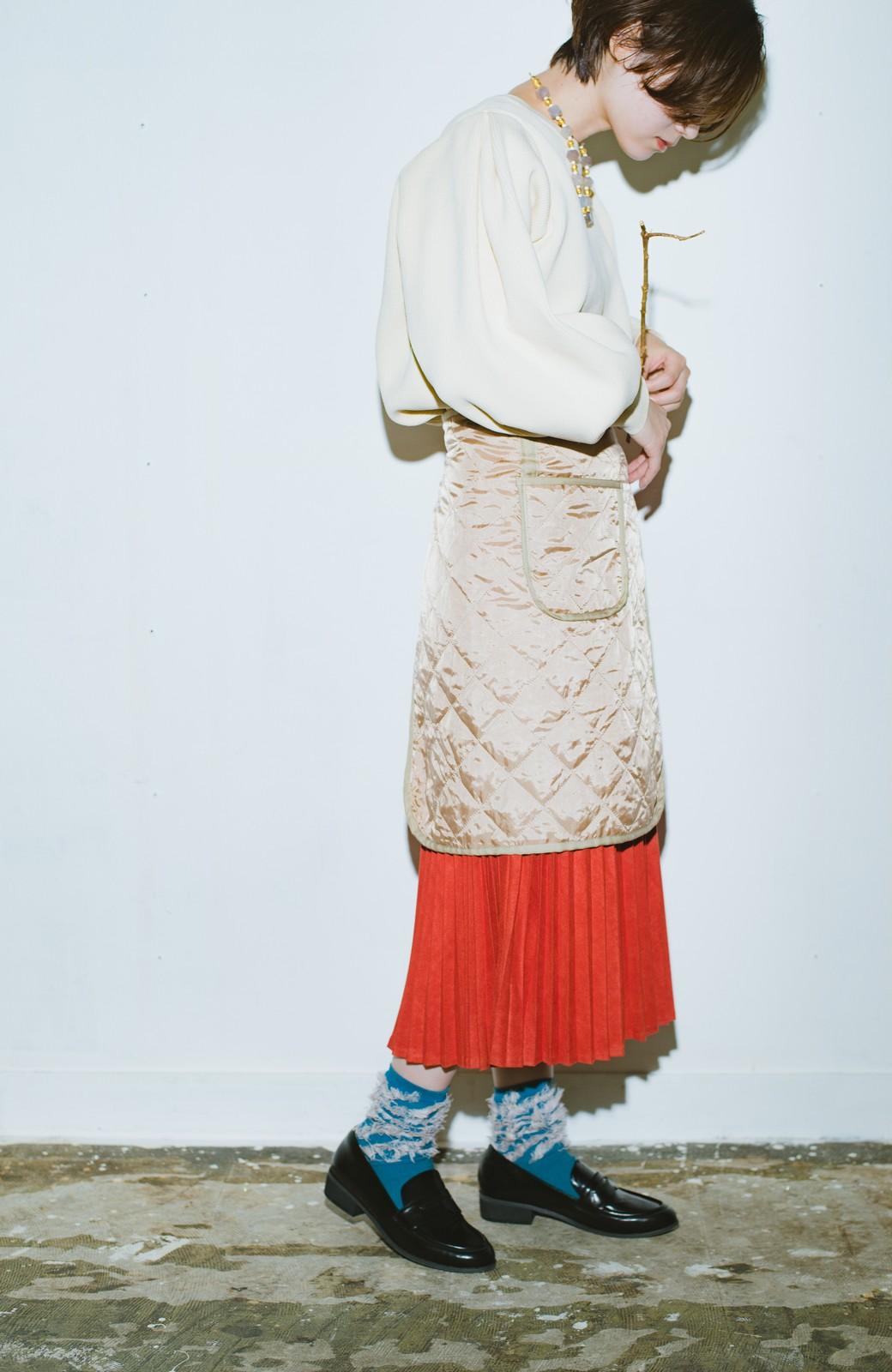 haco! haco! × RBTXCO  着回したっくさん!エプロン風巻きスカート <オレンジ系その他>の商品写真5