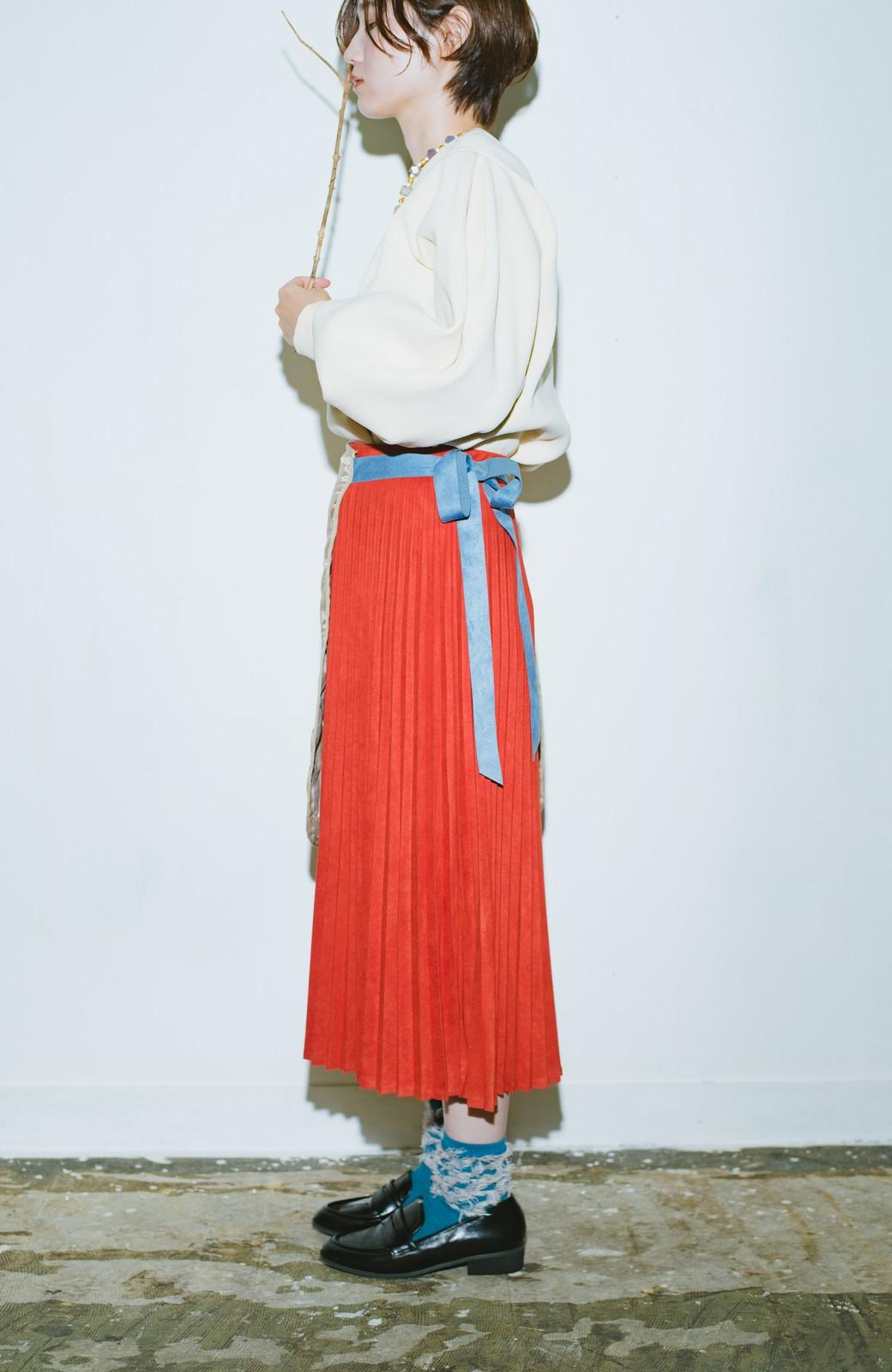 haco! haco! × RBTXCO  着回したっくさん!エプロン風巻きスカート <オレンジ系その他>の商品写真6