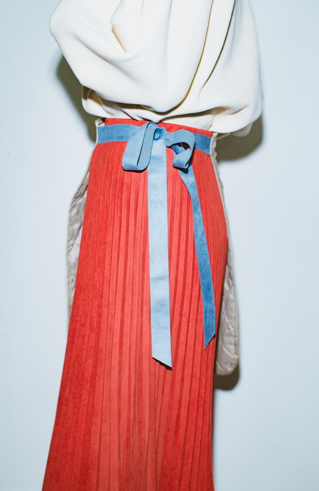 haco! haco! × RBTXCO  着回したっくさん!エプロン風巻きスカート <オレンジ系その他>の商品写真7