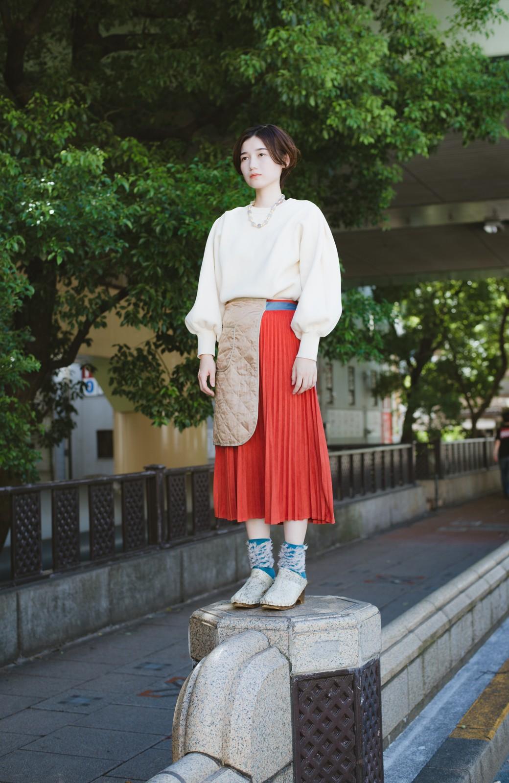 haco! haco! × RBTXCO  着回したっくさん!エプロン風巻きスカート <オレンジ系その他>の商品写真17