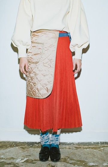 haco! haco! × RBTXCO  着回したっくさん!エプロン風巻きスカート <オレンジ系その他>の商品写真