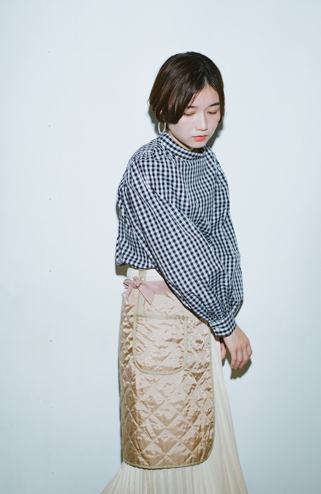 haco! haco! × RBTXCO  着回したっくさん!エプロン風巻きスカート <ライトベージュ>の商品写真3