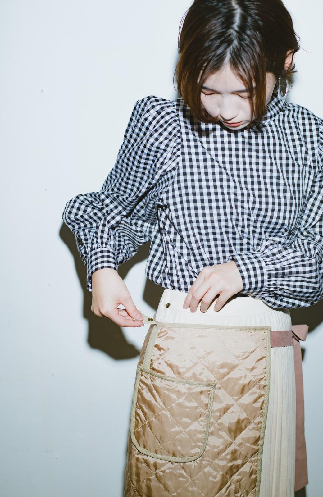 haco! haco! × RBTXCO  着回したっくさん!エプロン風巻きスカート <ライトベージュ>の商品写真4