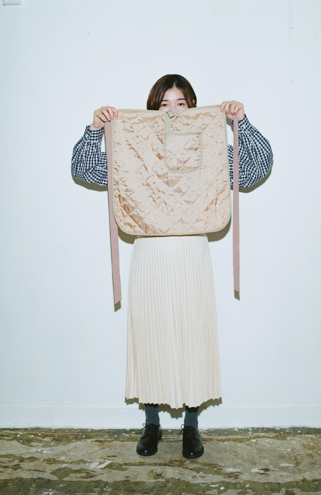 haco! haco! × RBTXCO  着回したっくさん!エプロン風巻きスカート <ライトベージュ>の商品写真5