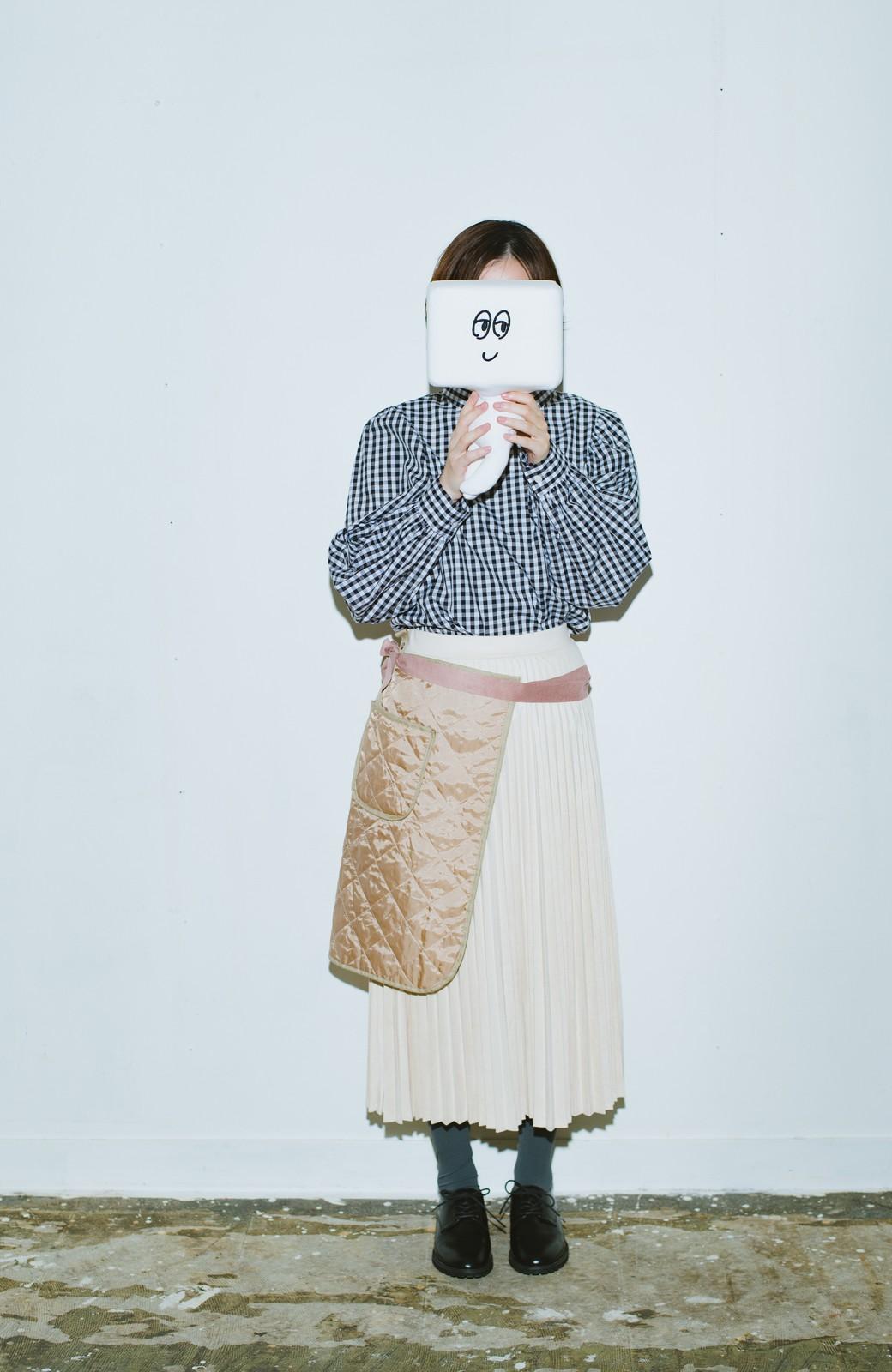 haco! haco! × RBTXCO  着回したっくさん!エプロン風巻きスカート <ライトベージュ>の商品写真6