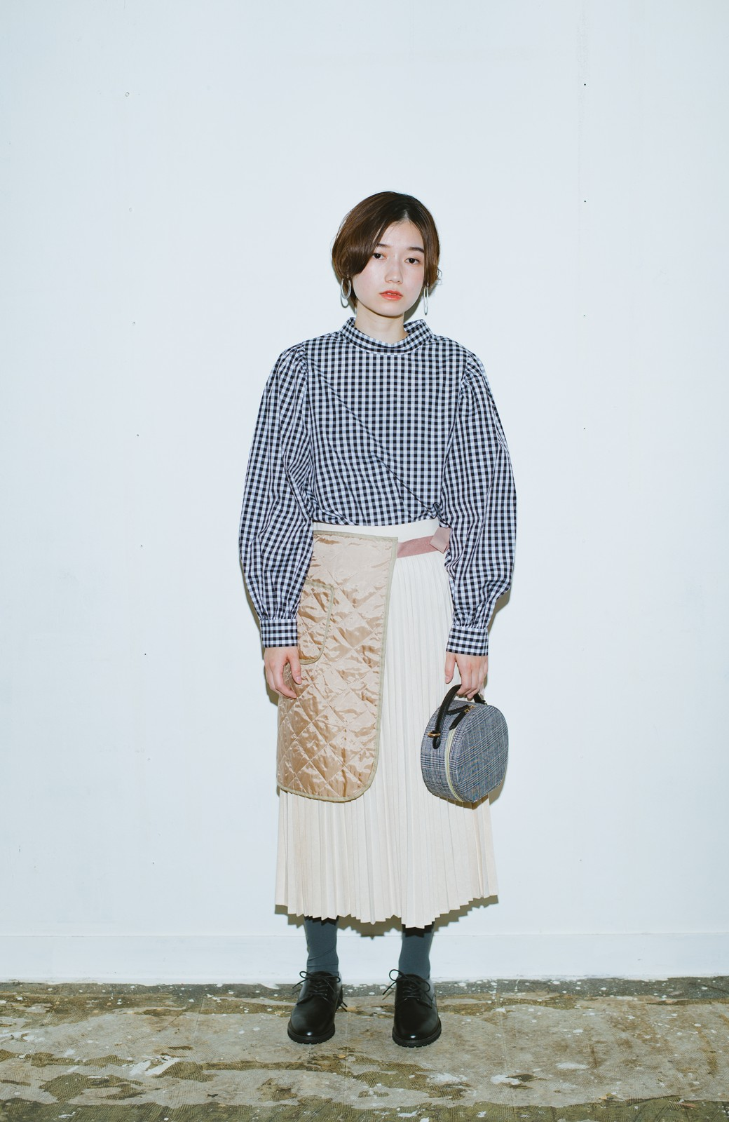haco! haco! × RBTXCO  着回したっくさん!エプロン風巻きスカート <ライトベージュ>の商品写真7