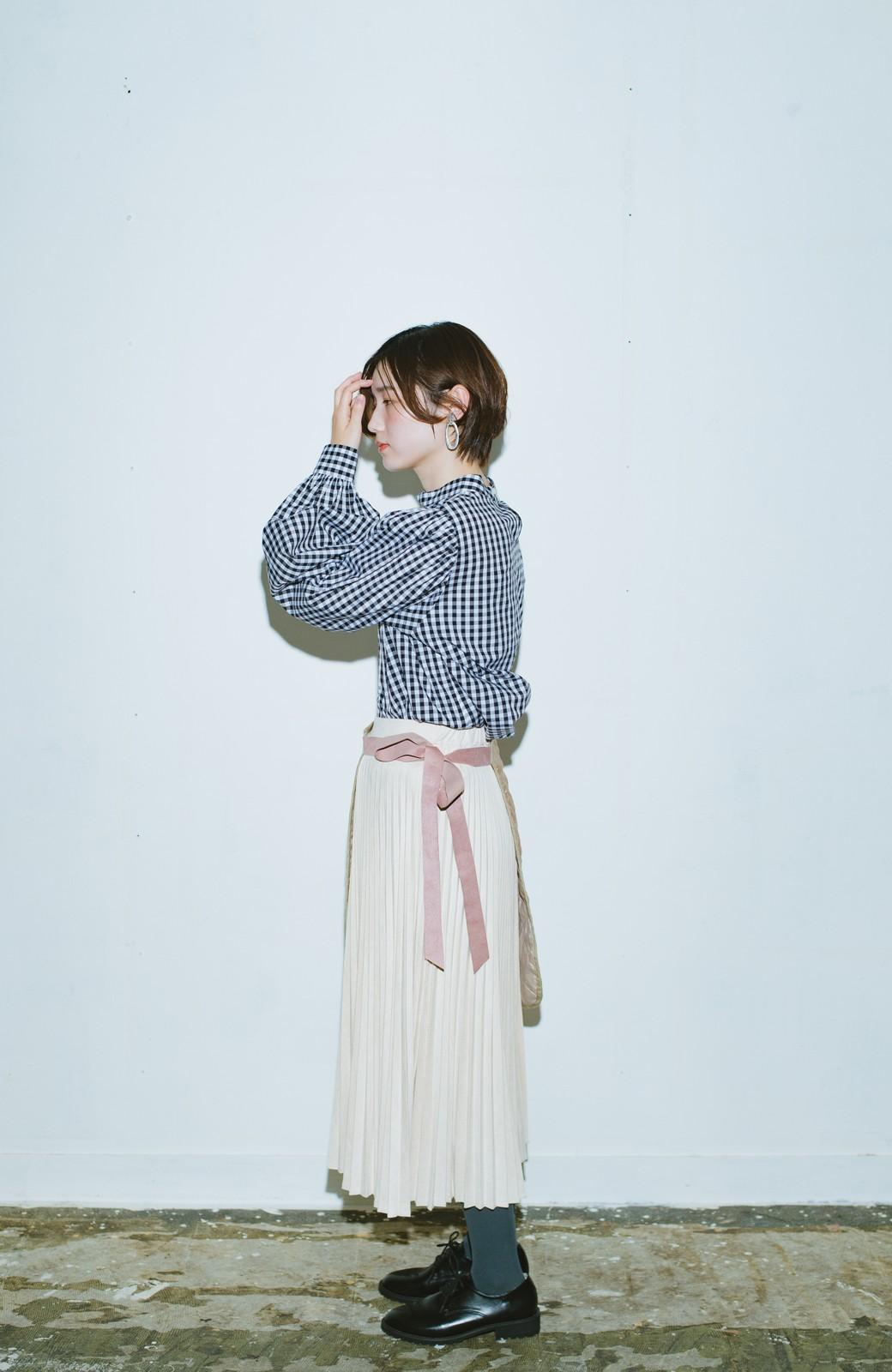 haco! haco! × RBTXCO  着回したっくさん!エプロン風巻きスカート <ライトベージュ>の商品写真8
