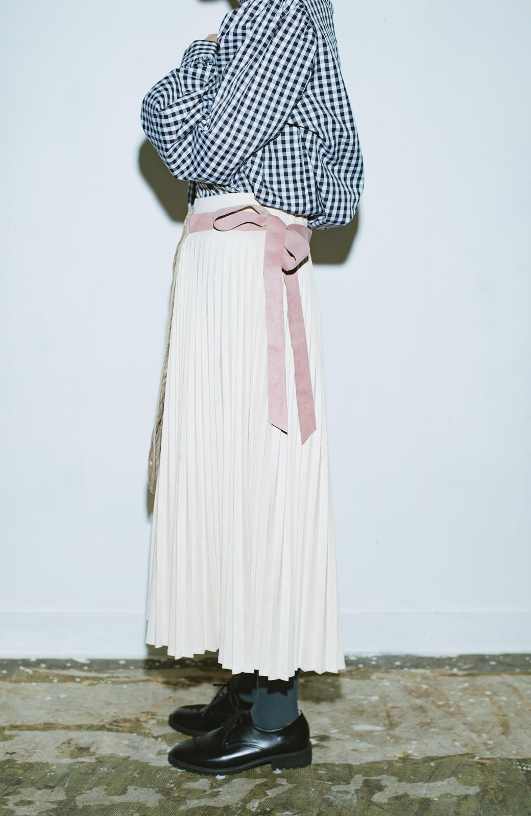 haco! haco! × RBTXCO  着回したっくさん!エプロン風巻きスカート <ライトベージュ>の商品写真9