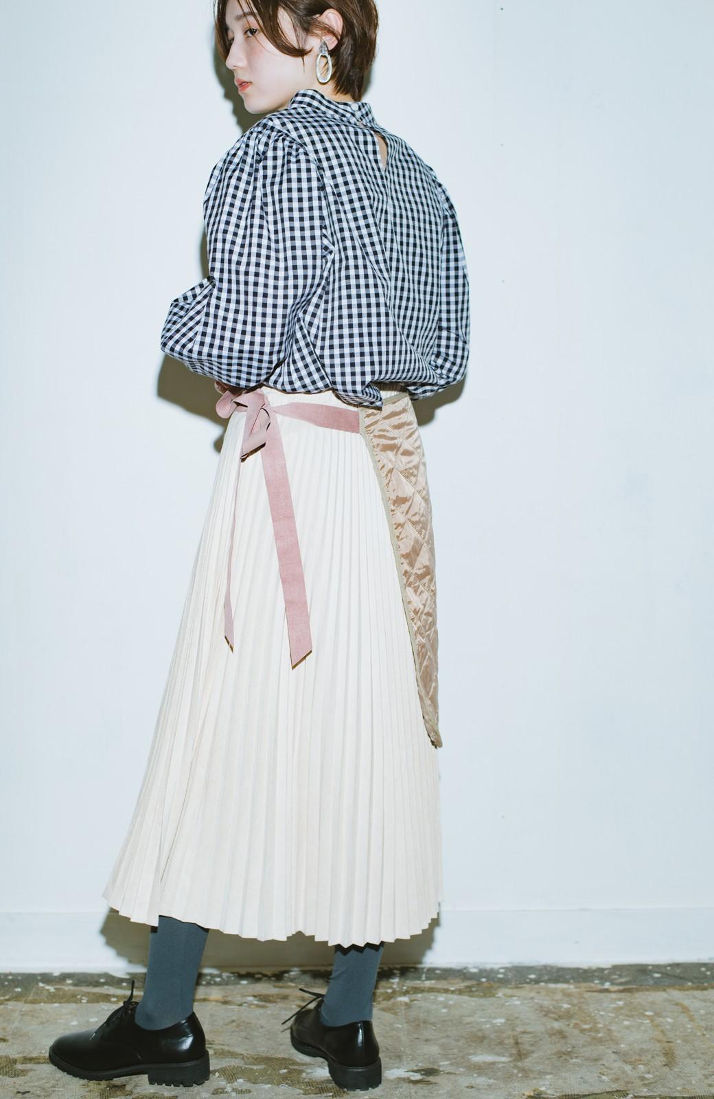 haco! haco! × RBTXCO  着回したっくさん!エプロン風巻きスカート <ライトベージュ>の商品写真10