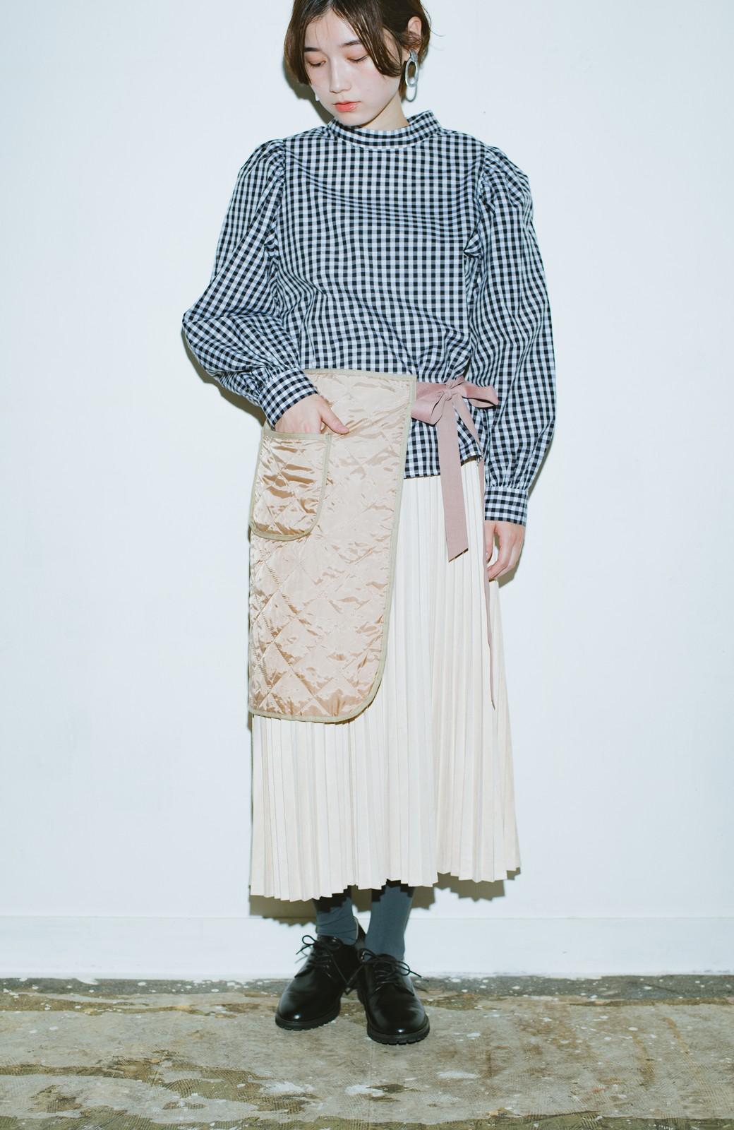haco! haco! × RBTXCO  着回したっくさん!エプロン風巻きスカート <ライトベージュ>の商品写真11