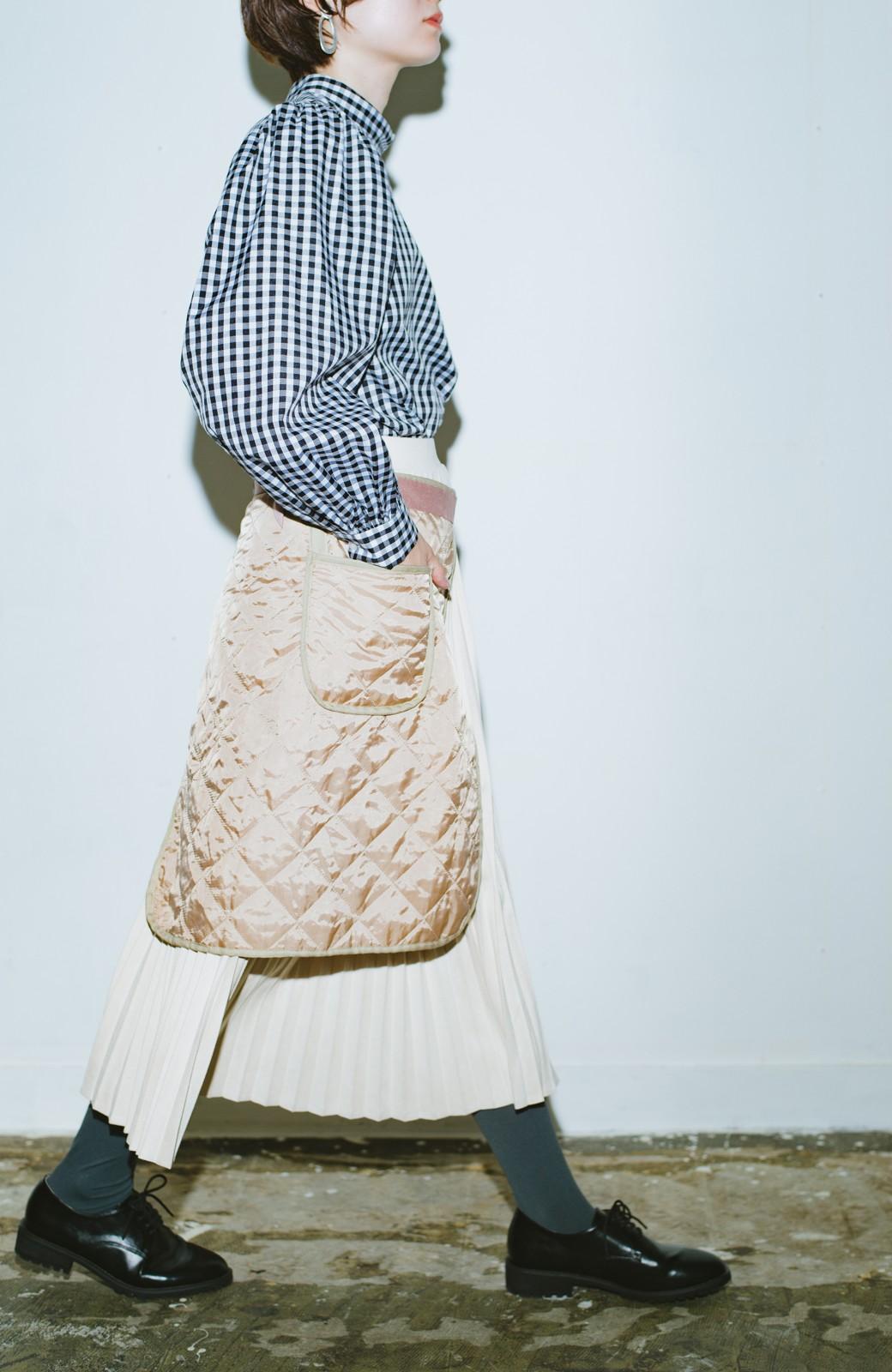 haco! haco! × RBTXCO  着回したっくさん!エプロン風巻きスカート <ライトベージュ>の商品写真12