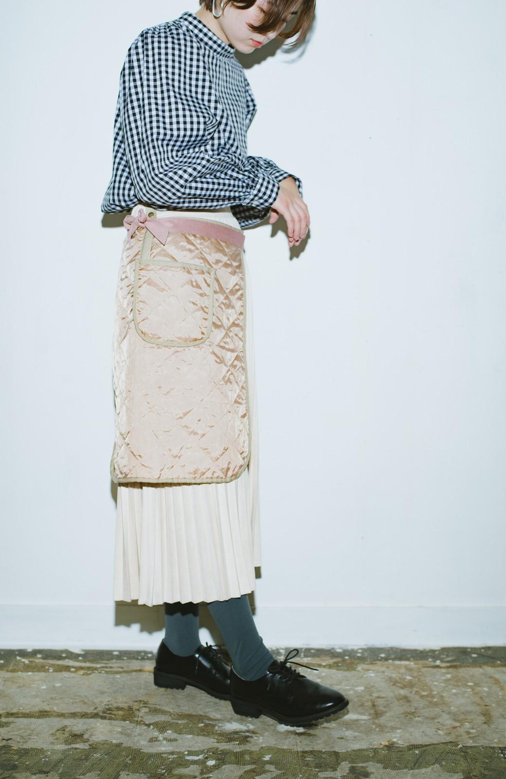 haco! haco! × RBTXCO  着回したっくさん!エプロン風巻きスカート <ライトベージュ>の商品写真13