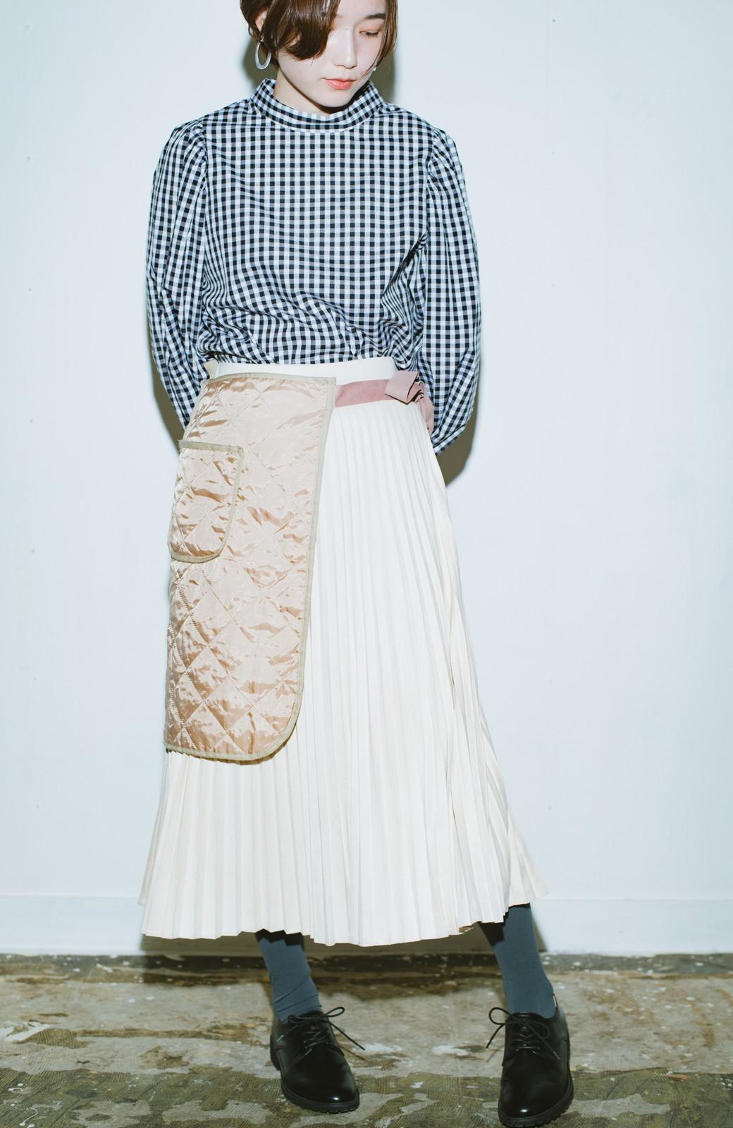 haco! haco! × RBTXCO  着回したっくさん!エプロン風巻きスカート <ライトベージュ>の商品写真1