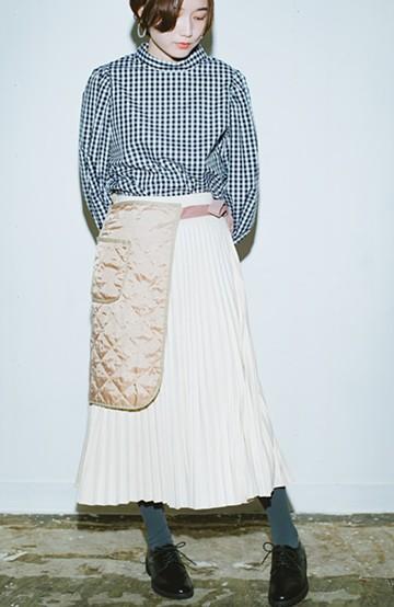 haco! haco! × RBTXCO  着回したっくさん!エプロン風巻きスカート <ライトベージュ>の商品写真