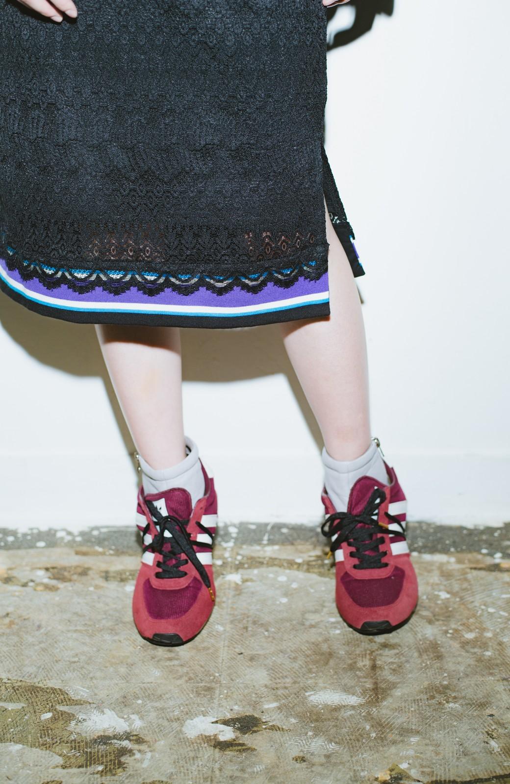 haco! haco! × RBTXCO スポーティーリブで一段上のオシャレさんレースタイトスカート  <ブラック>の商品写真6