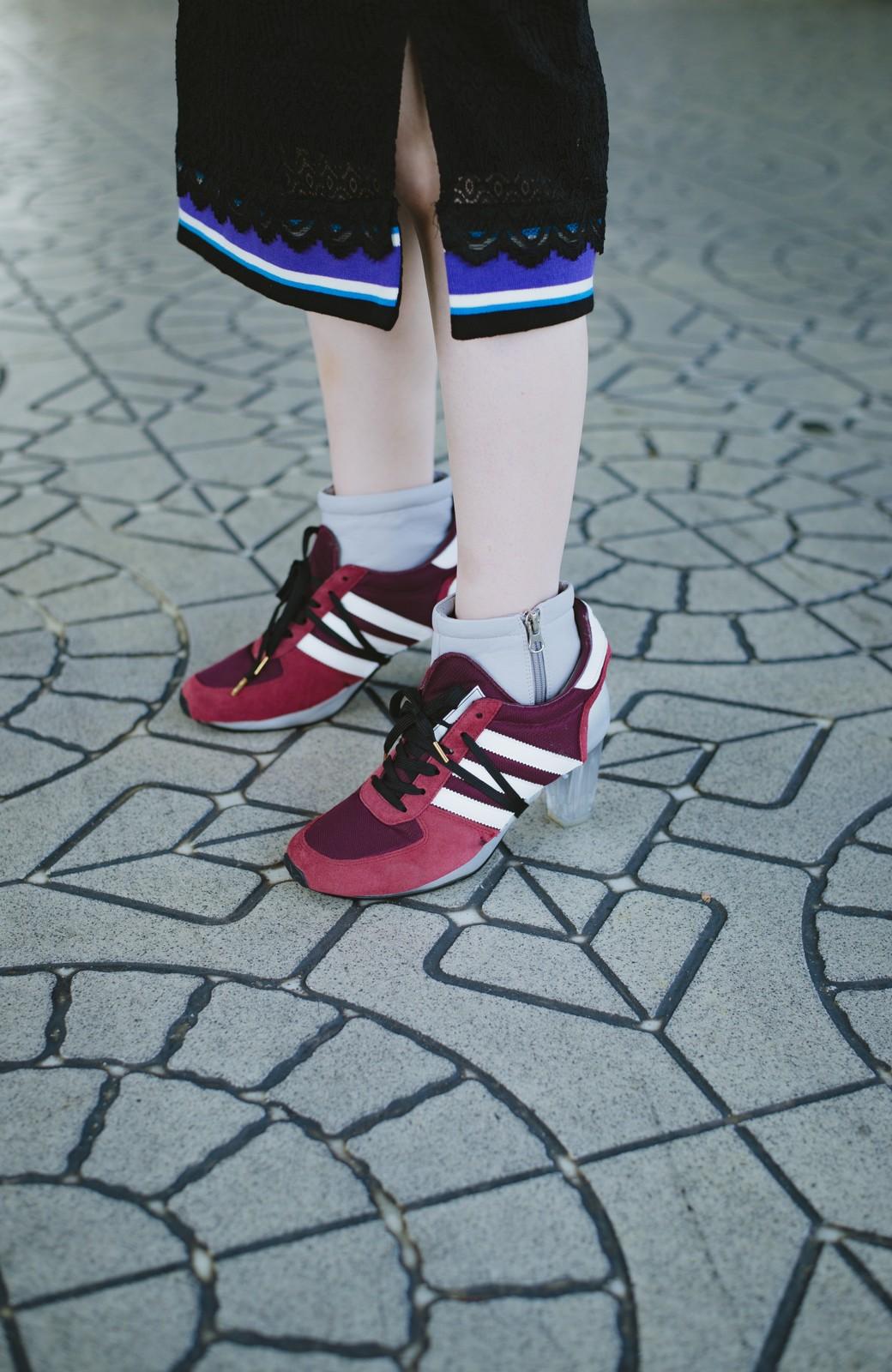 haco! haco! × RBTXCO スポーティーリブで一段上のオシャレさんレースタイトスカート  <ブラック>の商品写真9