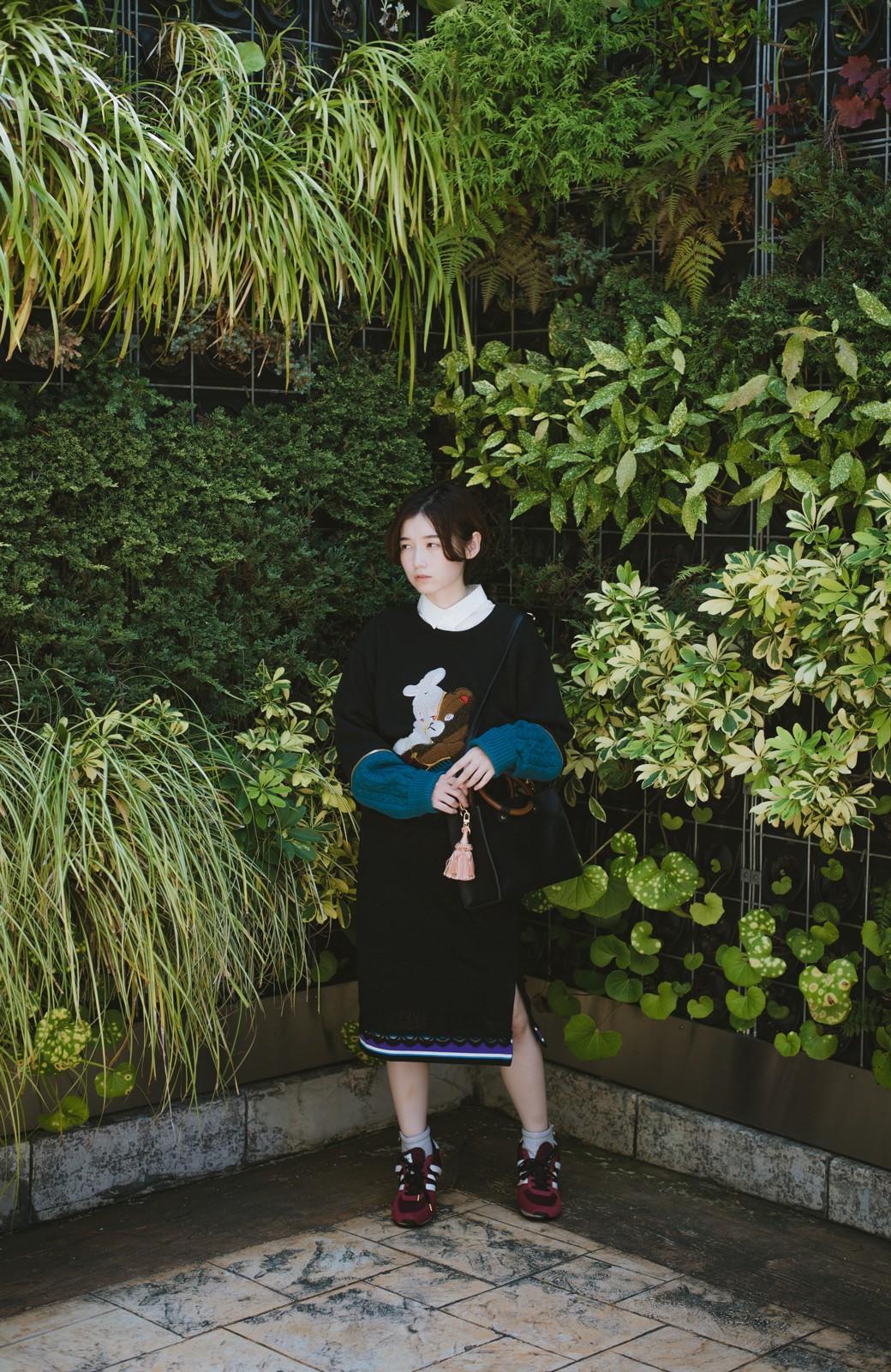 haco! haco! × RBTXCO スポーティーリブで一段上のオシャレさんレースタイトスカート  <ブラック>の商品写真11