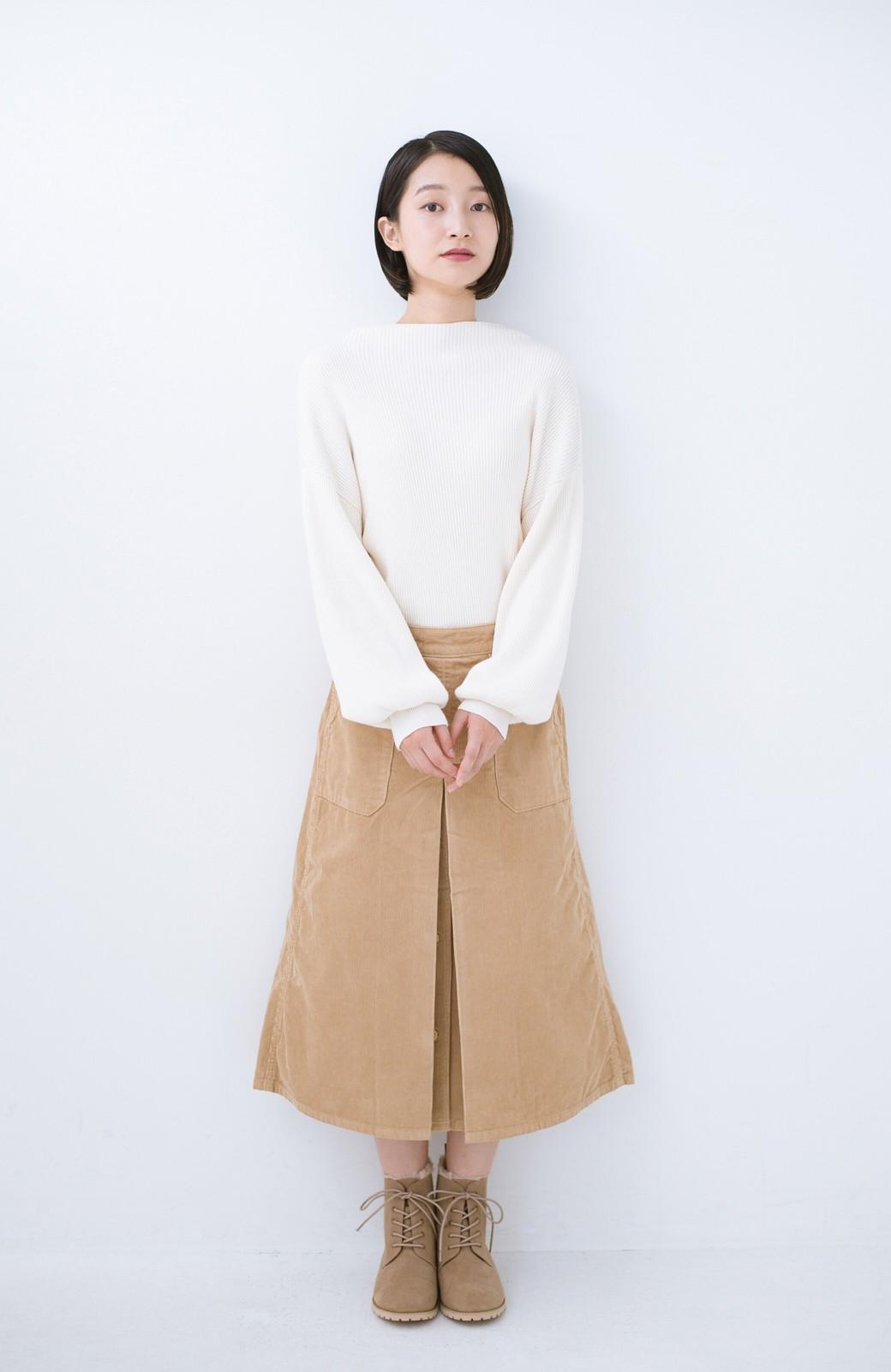haco! あったか&かわいいを叶えてくれる ふわふわ編み上げブーツ <ベージュ>の商品写真9