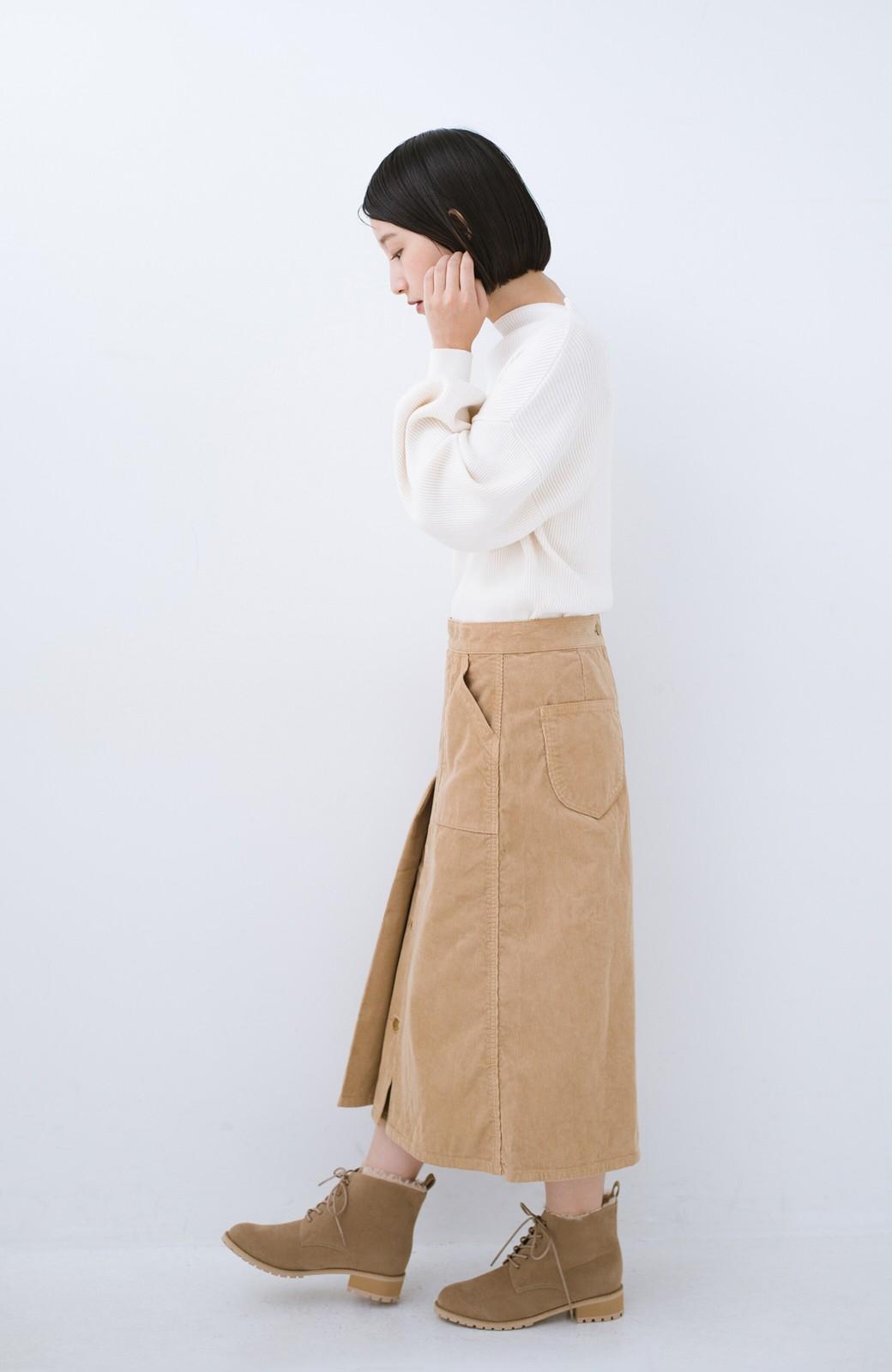 haco! あったか&かわいいを叶えてくれる ふわふわ編み上げブーツ <ベージュ>の商品写真10
