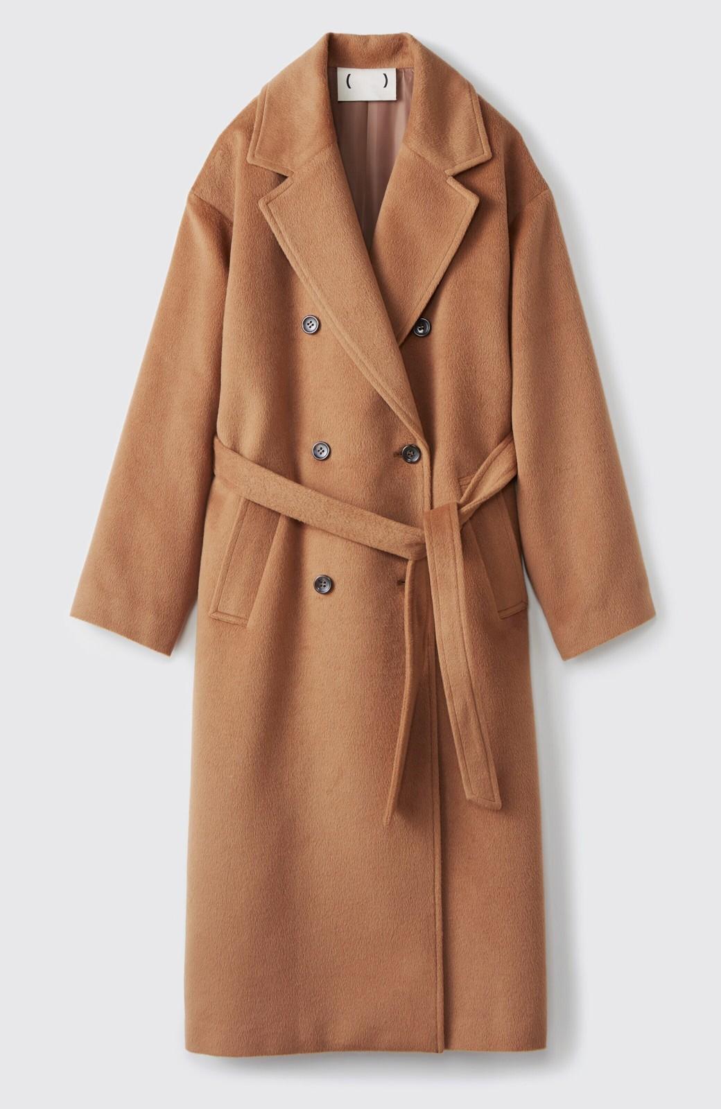haco! 女っぽくもかっこよくも着られる ウエストベルト付きロングコート <キャメル>の商品写真1