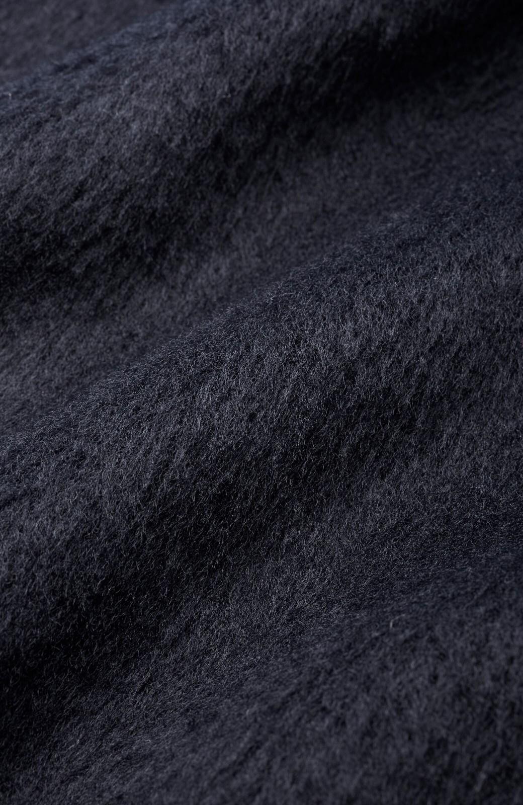 haco! 女っぽくもかっこよくも着られる ベルトつきノーカラーコート <ネイビー>の商品写真2