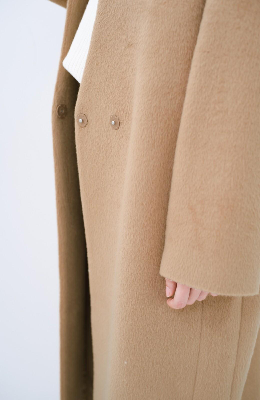 haco! パッと羽織るだけであったか&オシャレに女っぽが叶う よくばり女子のためのロングコート <ベージュ>の商品写真5