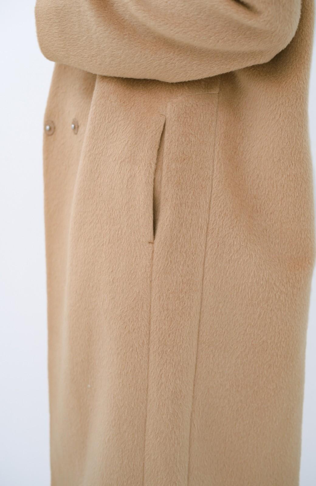 haco! パッと羽織るだけであったか&オシャレに女っぽが叶う よくばり女子のためのロングコート <ベージュ>の商品写真6