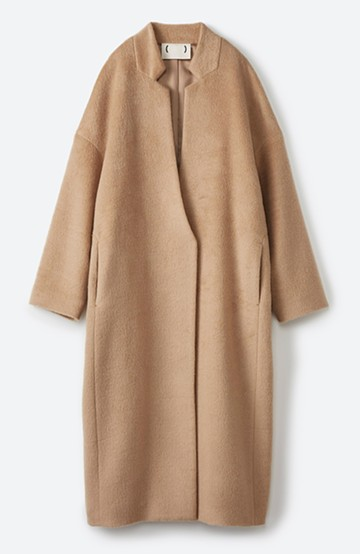 haco! パッと羽織るだけであったか&オシャレに女っぽが叶う よくばり女子のためのロングコート <ベージュ>の商品写真
