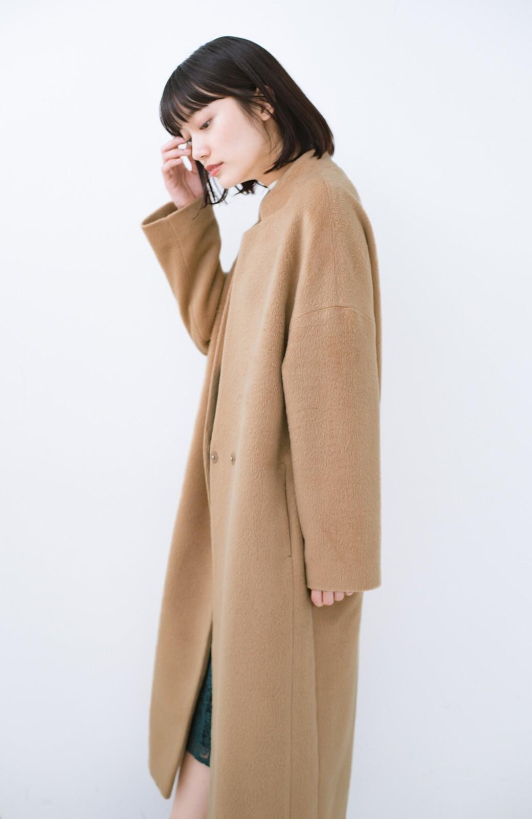 haco! パッと羽織るだけであったか&オシャレに女っぽが叶う よくばり女子のためのロングコート <ベージュ>の商品写真2