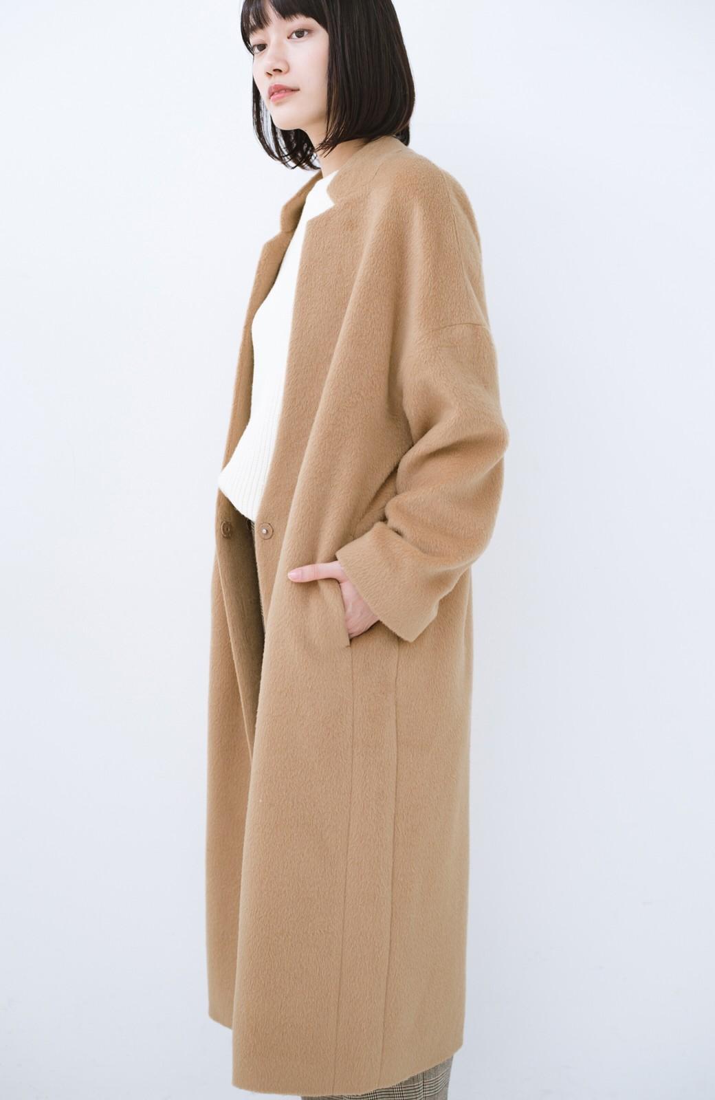 haco! パッと羽織るだけであったか&オシャレに女っぽが叶う よくばり女子のためのロングコート <ベージュ>の商品写真17