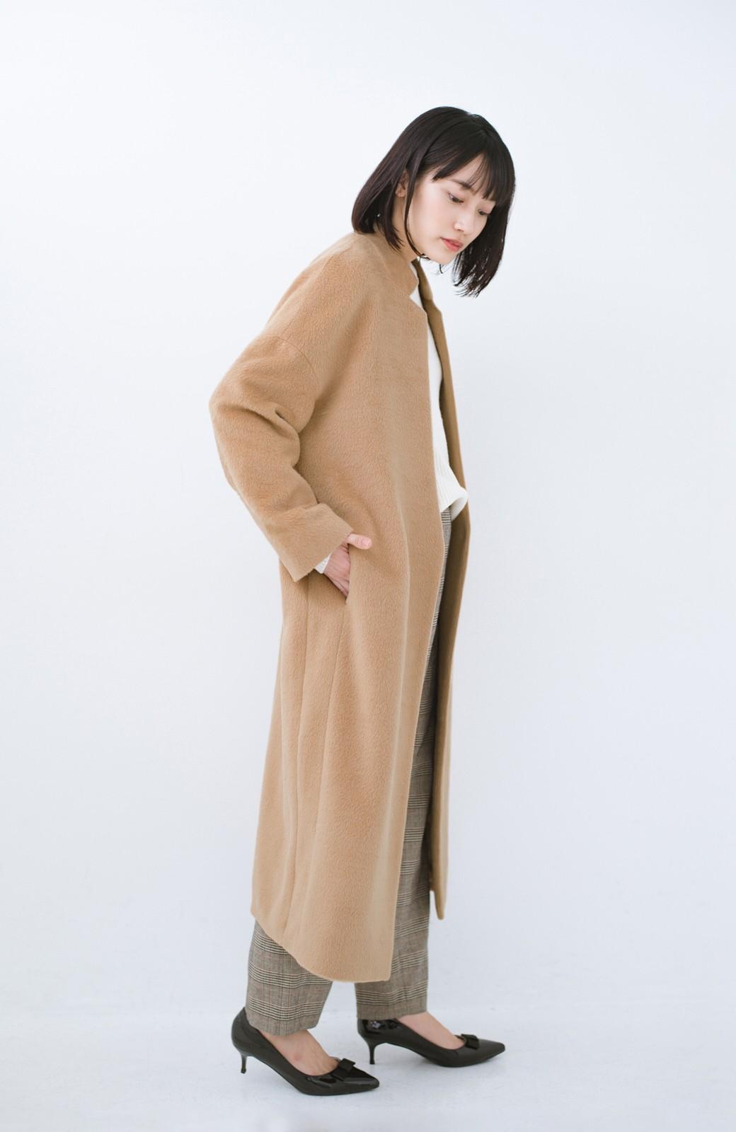 haco! パッと羽織るだけであったか&オシャレに女っぽが叶う よくばり女子のためのロングコート <ベージュ>の商品写真13