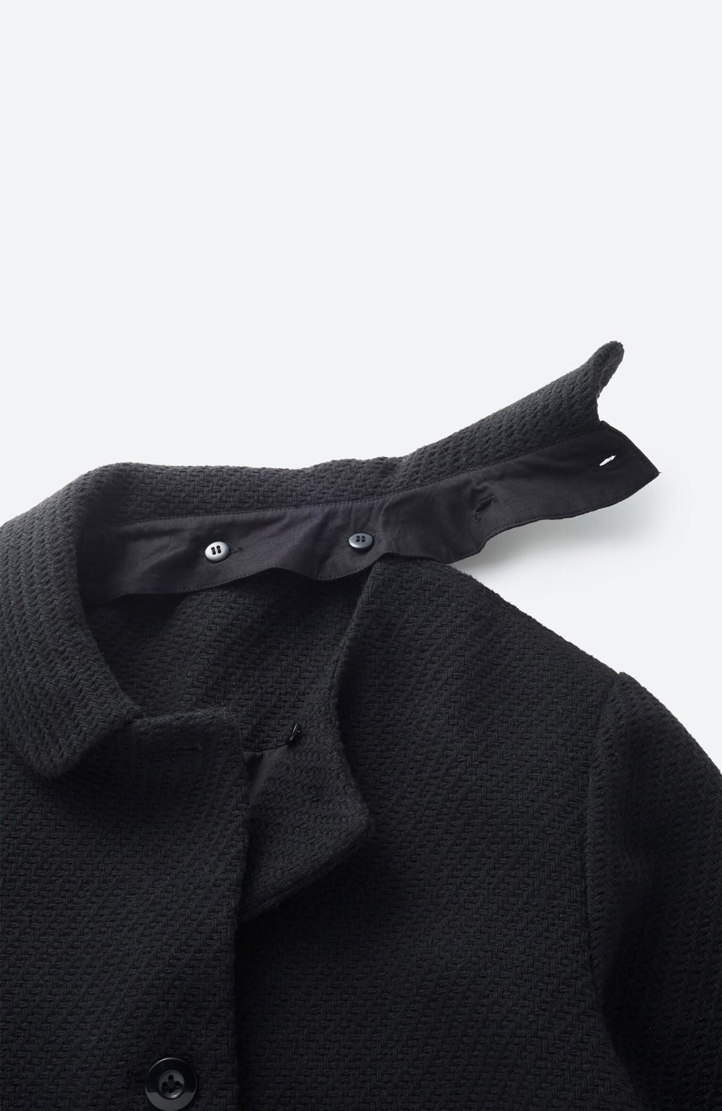 haco! 衿が取り外せて2倍使える!上品なクラシックコート <ブラック>の商品写真3