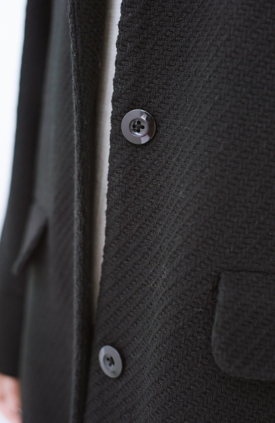 haco! 衿が取り外せて2倍使える!上品なクラシックコート <ブラック>の商品写真8