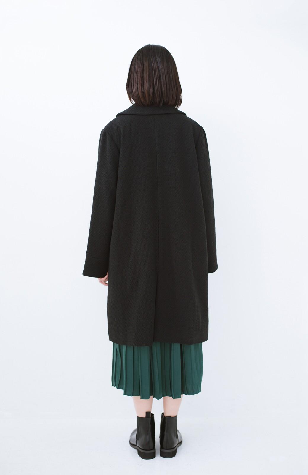 haco! 衿が取り外せて2倍使える!上品なクラシックコート <ブラック>の商品写真16