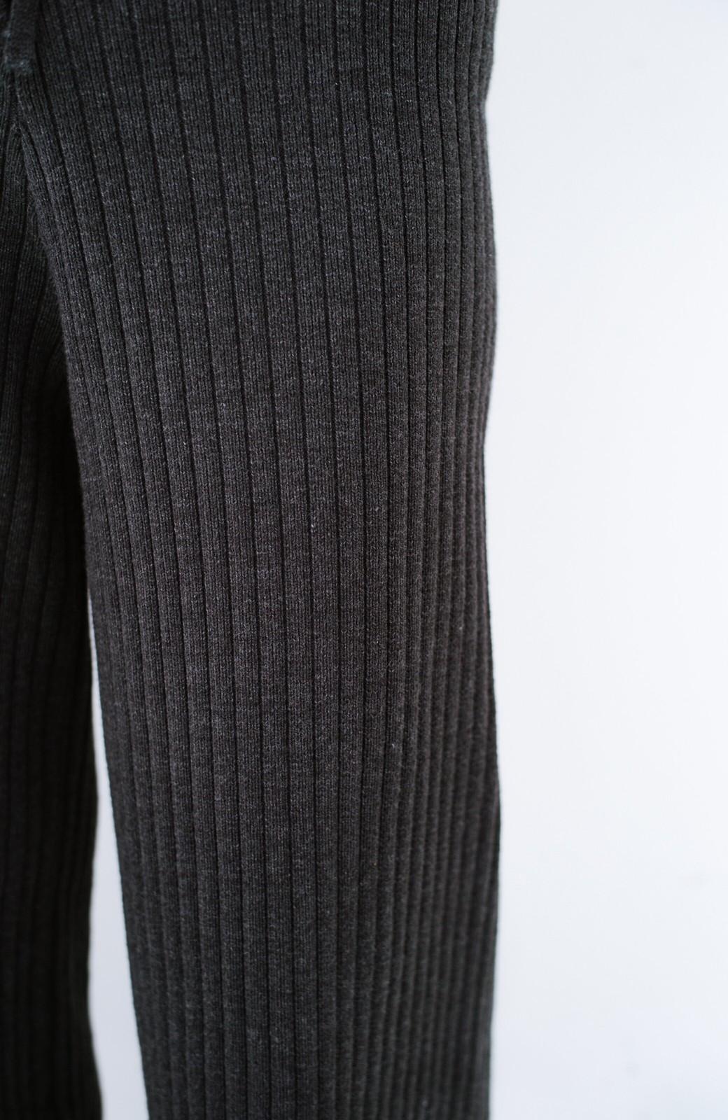 haco! 楽ちんなのにきれいシルエットのオトナニットパンツ by MAKORI <チャコールグレー>の商品写真9
