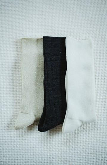 haco! hint hint 編み地違いとラメのソックス3足セット <その他1>の商品写真