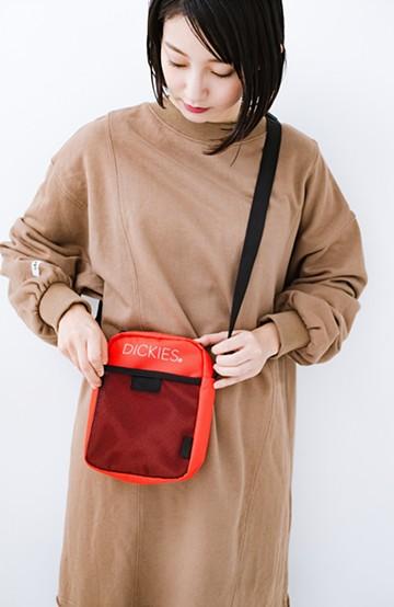 haco! Dickies CORDURA®ポリエステルプリントミニショルダーバッグ <オレンジ>の商品写真