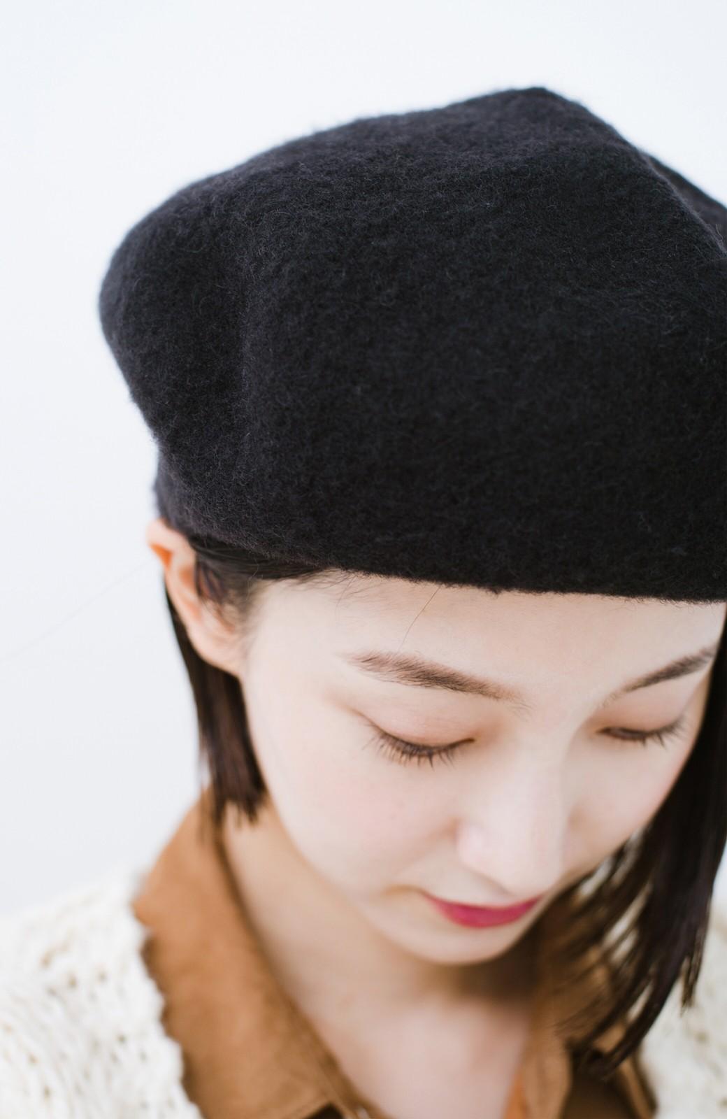 haco! odds ビッグベレー帽 <ブラック>の商品写真7