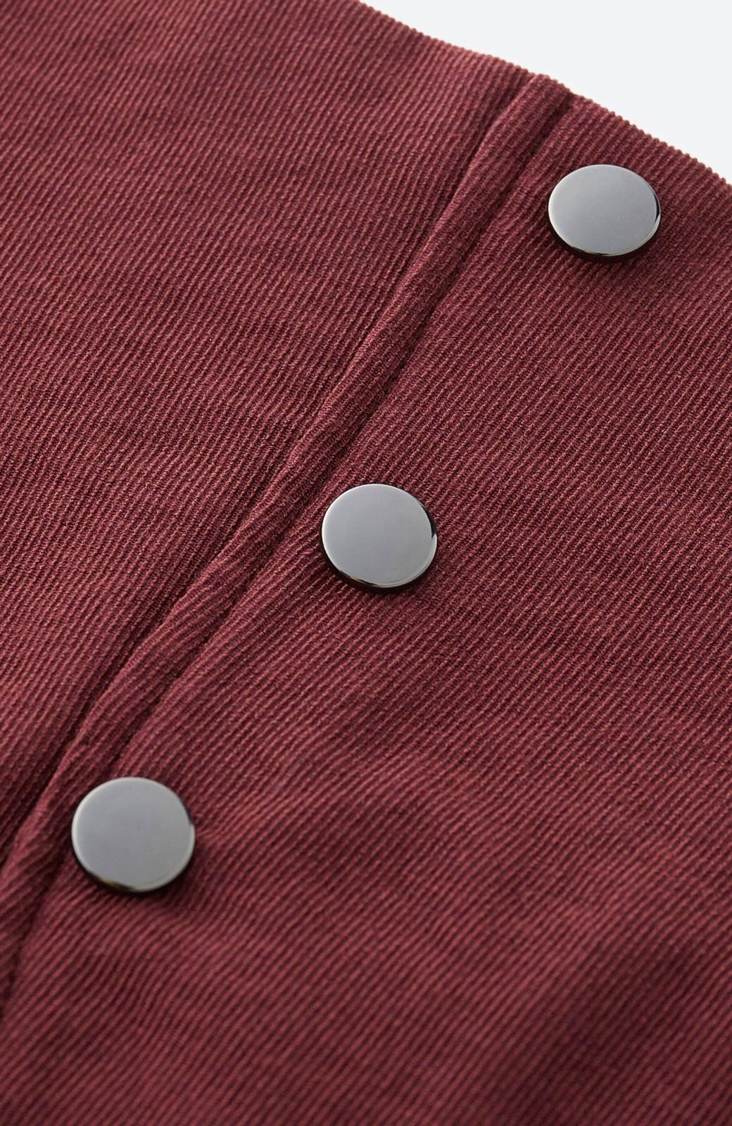 haco!  腹巻きとは呼ばせない ブルー期も華やかに過ごせる消臭加工裏地付きフリルデザインスカートセット【ブルー期】女の子バンザイ!プロジェクト <ボルドー>の商品写真6